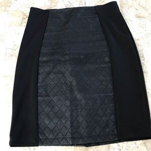 Quilted pleather skirt size medium
